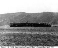 Asisbiz Archive Japanese Naval photo showing the carrier Akagi at Sukumo Bay Kochi April 1939 01
