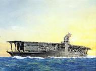 Asisbiz Art painting of the Japanese aircraft carrier HIJMS Akagi at sea 0A