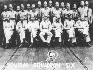 Asisbiz USN archive photo showing the VS 6 aircrew which helped sink the Imperial Japanese aircraft carrier Akagi 01