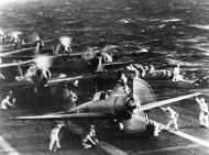 Asisbiz A6m Zeros taking off from Shokaku to attack Pearl Harbor 7th Dec 1941 03