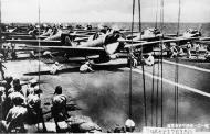 Asisbiz Japanese Zero Fighters pre launch HIJMS Shokaku Battle of the Santa Cruz Islands 26th Oct 1942 01