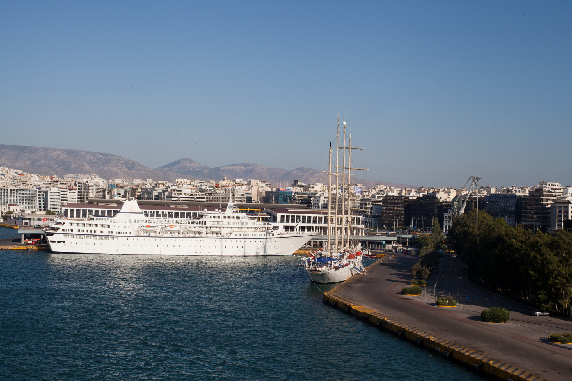 MS Aegean Odyssey IMO 7225910 docked Piraeus Port of Athens Greece 05