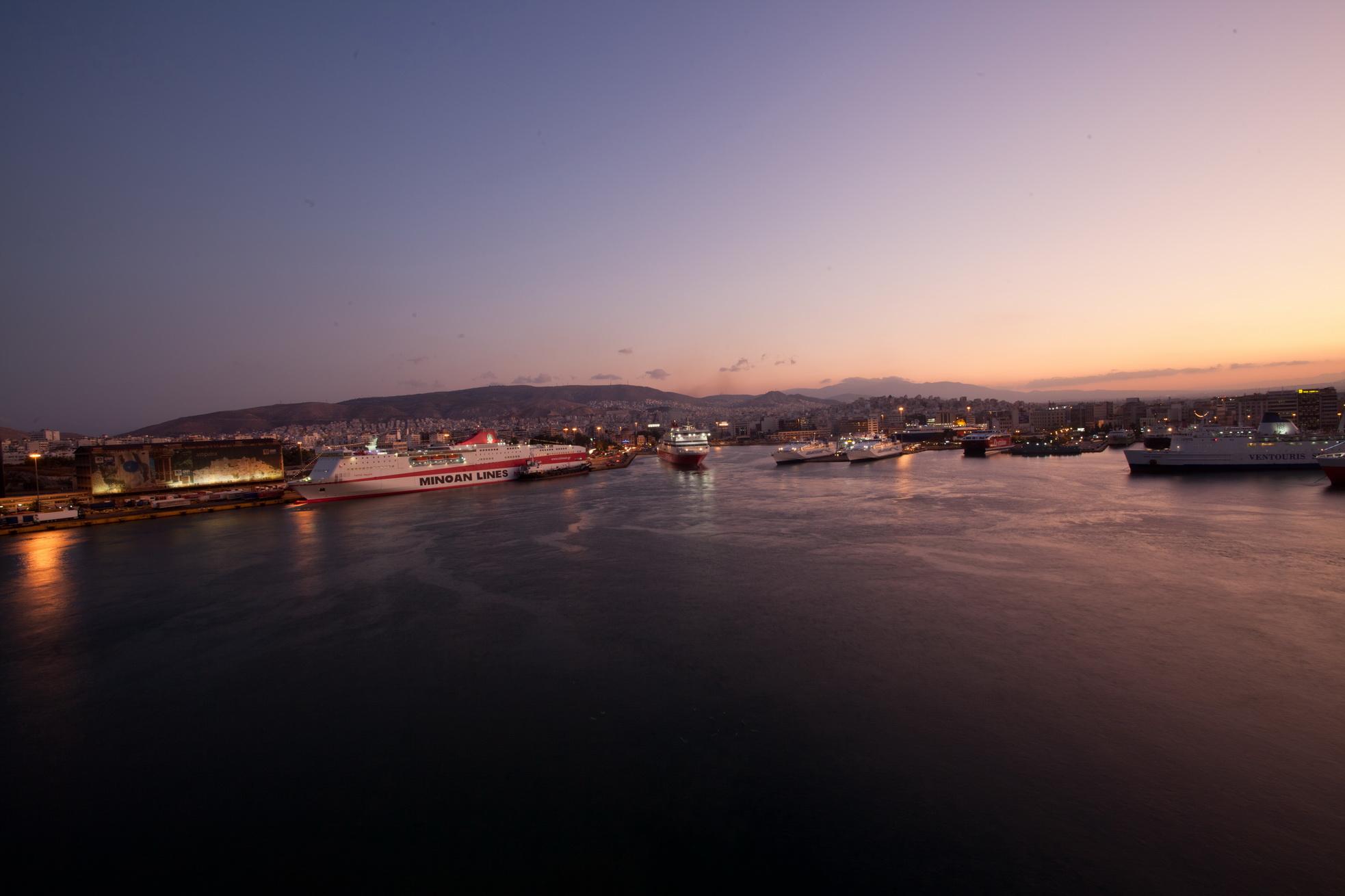 MS Festos Palace IMO 9204568 Minoan Lines docked Piraeus Port of Athens Greece 01