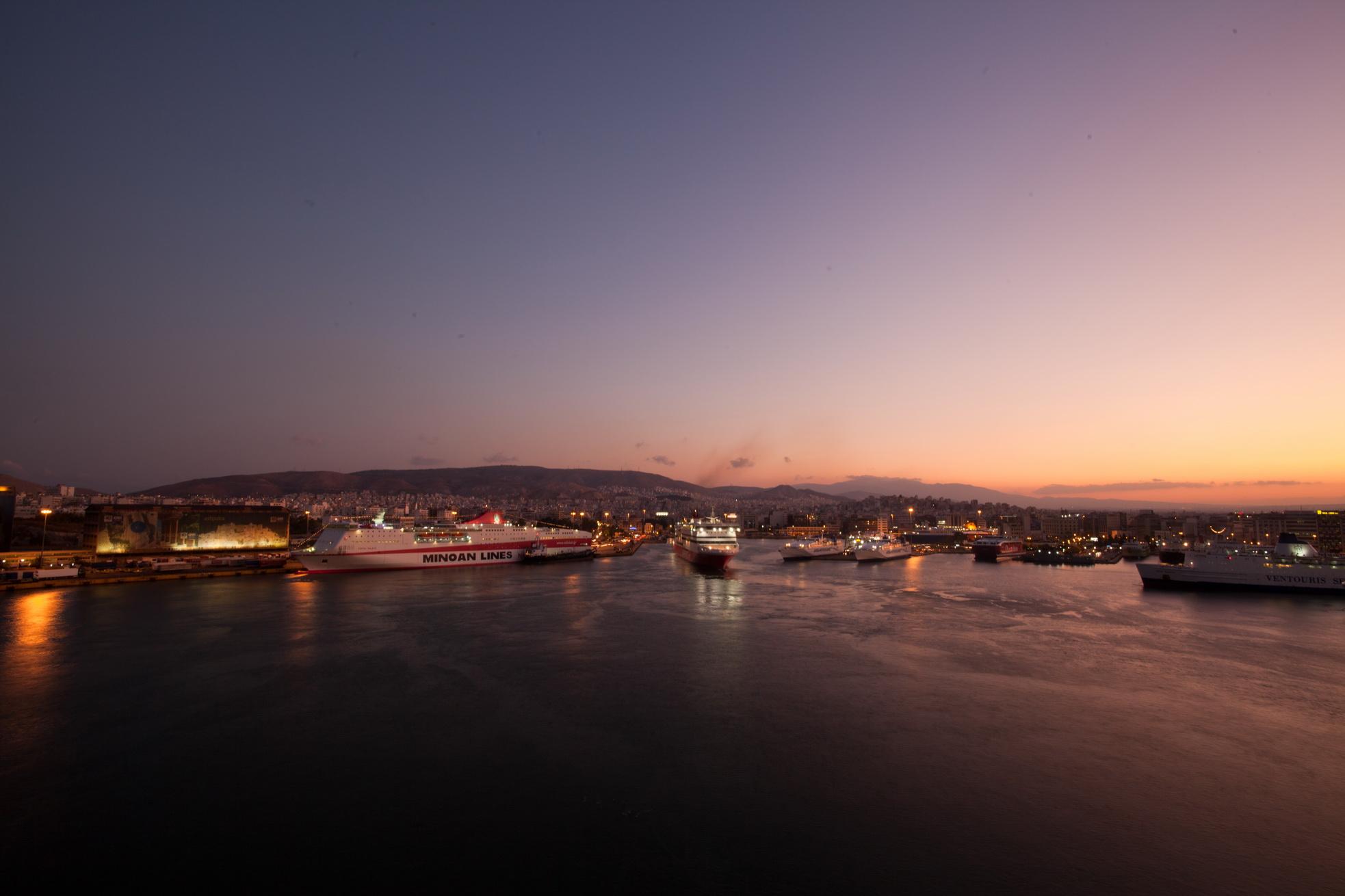 MS Festos Palace IMO 9204568 Minoan Lines docked Piraeus Port of Athens Greece 03