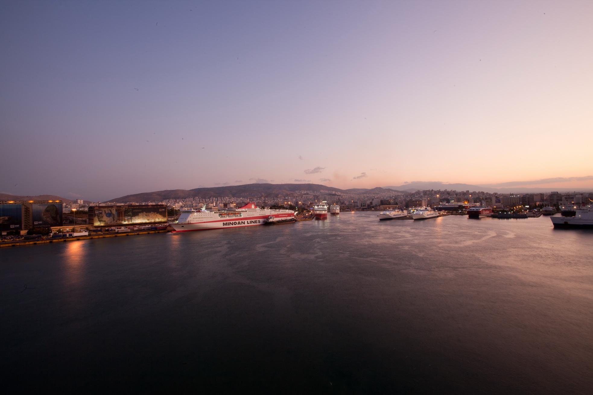 MS Festos Palace IMO 9204568 Minoan Lines docked Piraeus Port of Athens Greece 09