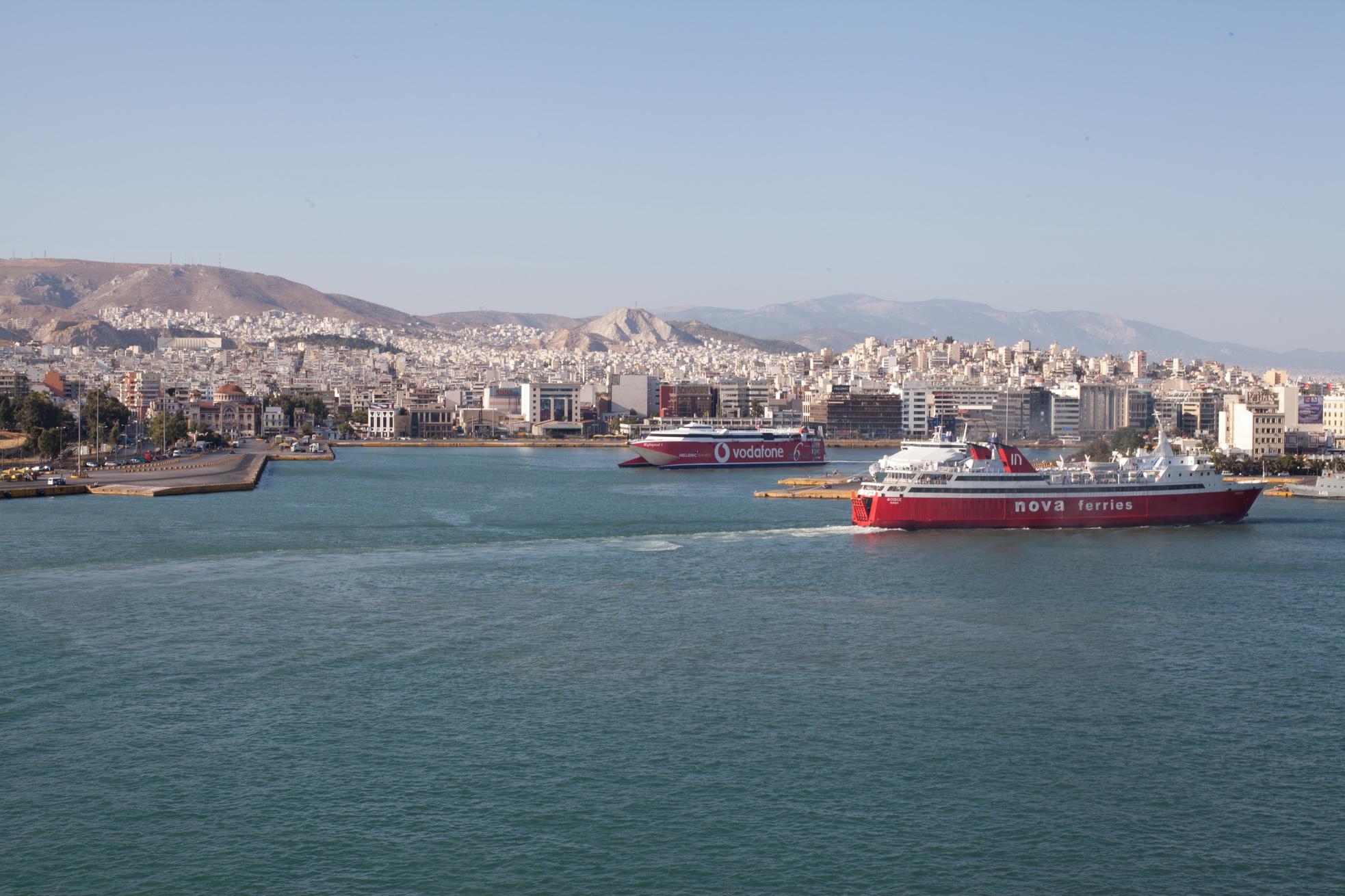 MS Phivos IMO 7825978 Nova Ferries entering Piraeus Port of Athens Greece 01