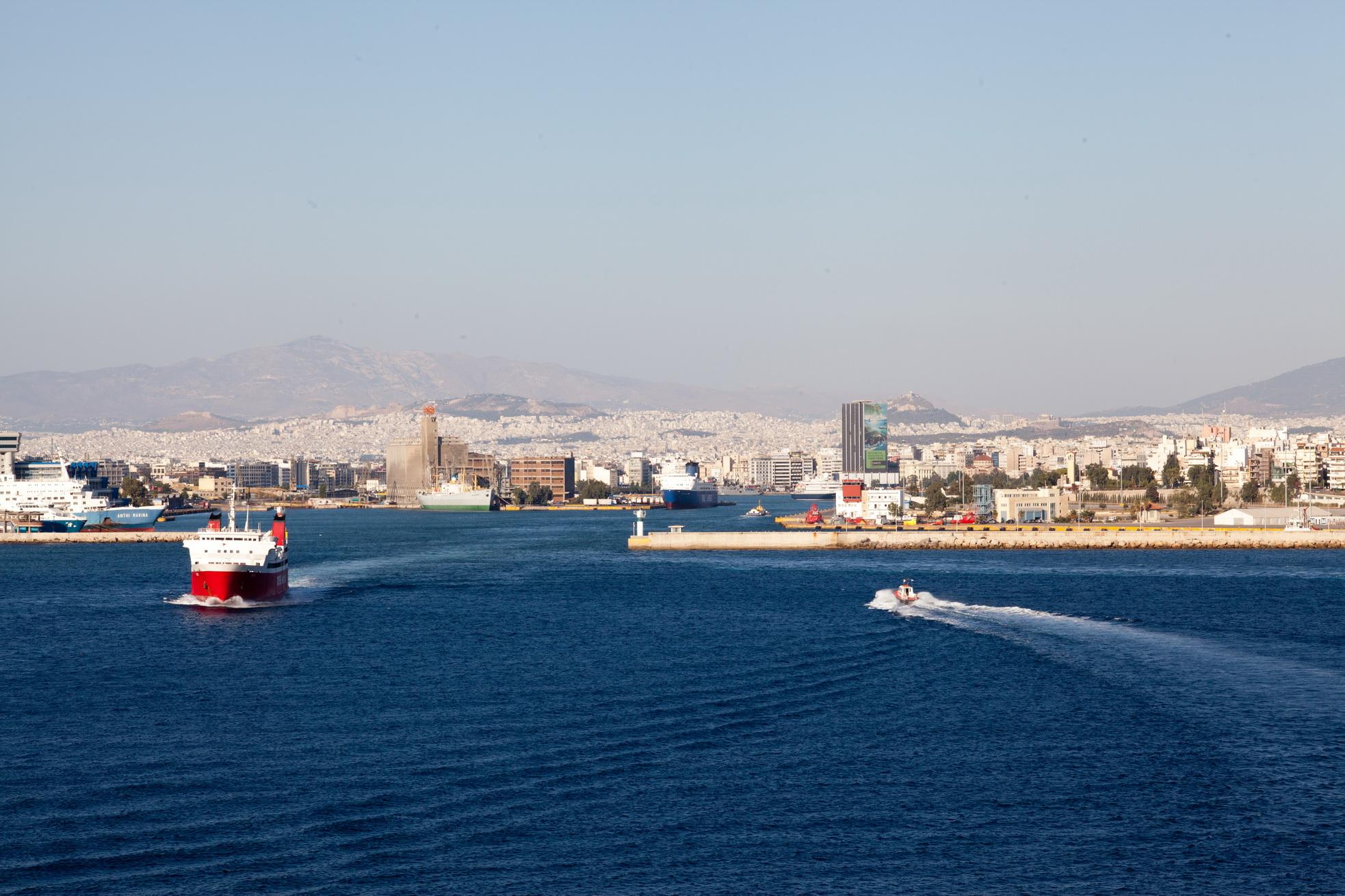 MS Phivos IMO 7825978 Nova Ferries leaving Piraeus Port of Athens Greece 01
