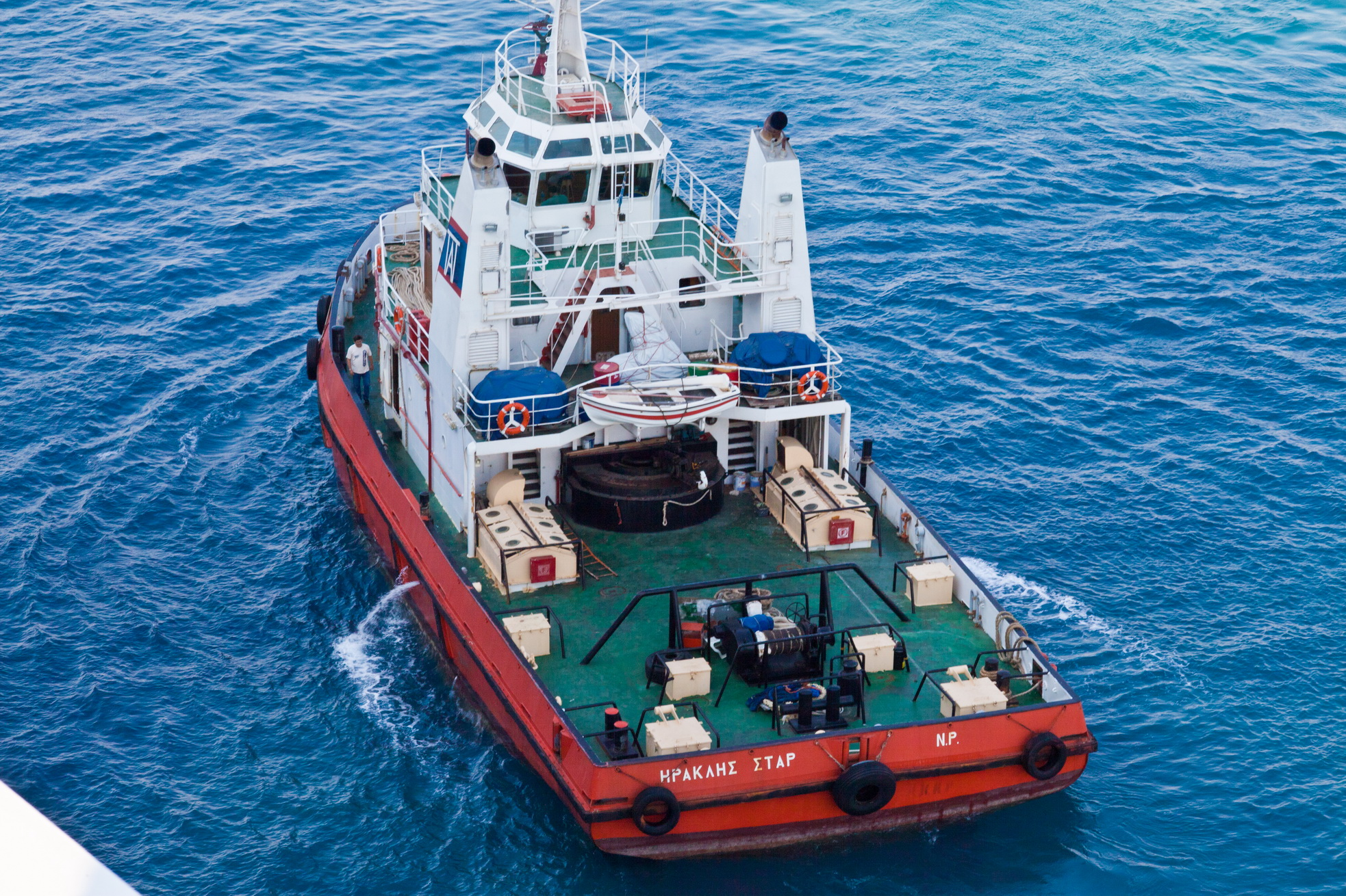 asisbiz tugboats tugboat rhodes port leaving greece aegean sea