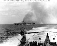 Asisbiz CV 14 USS Ticonderoga Kamikaze Attack 1945 01