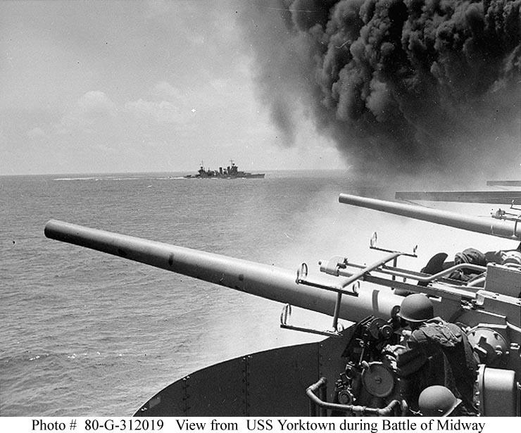 USS Yorktown during Battle of Midway 06