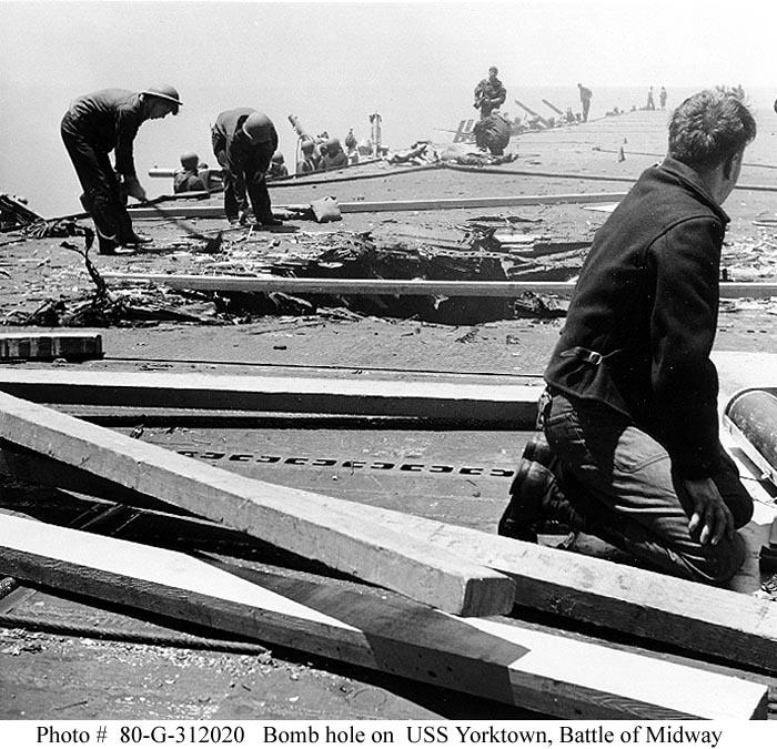 USS Yorktown during Battle of Midway 07