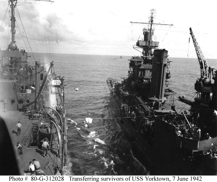 USS Yorktown during Battle of Midway 08
