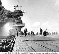 Asisbiz USS Yorktown during Battle of Midway 05