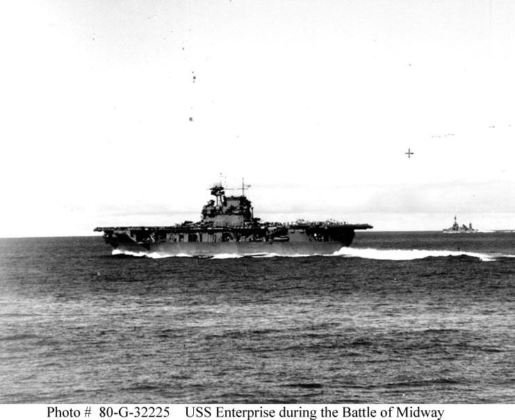 CV 6 USS Enterprise during Battle Midway 01