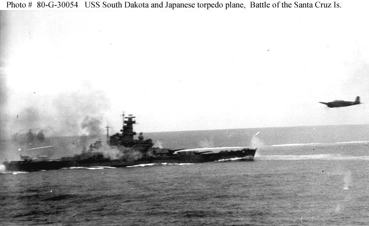 USS South Dakota during Battle Santa Cruz 01