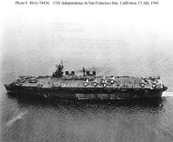 Asisbiz CV 22 USS Independence hull number changed from to CVL 22 San Francisco Bay California 15 July 1943 01