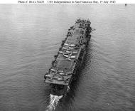 Asisbiz CV 22 USS Independence hull number changed from to CVL 22 San Francisco Bay California 15 July 1943 02