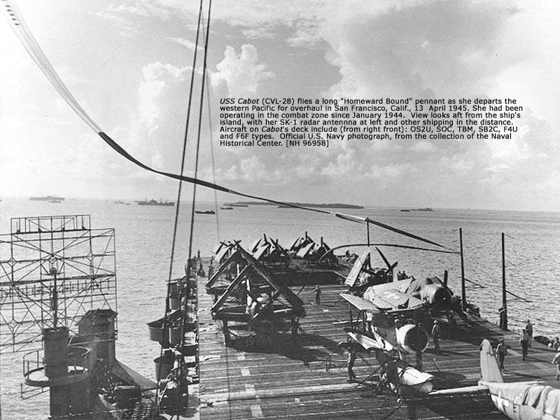 CVL 28 USS Cabot 1945 03