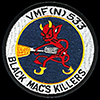 USN Marine Fighting (Night) Squadron VMF(N)-533 'Crystal Gazers' patch