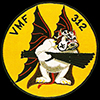 USN Fighting Squadron VMF-312 patch